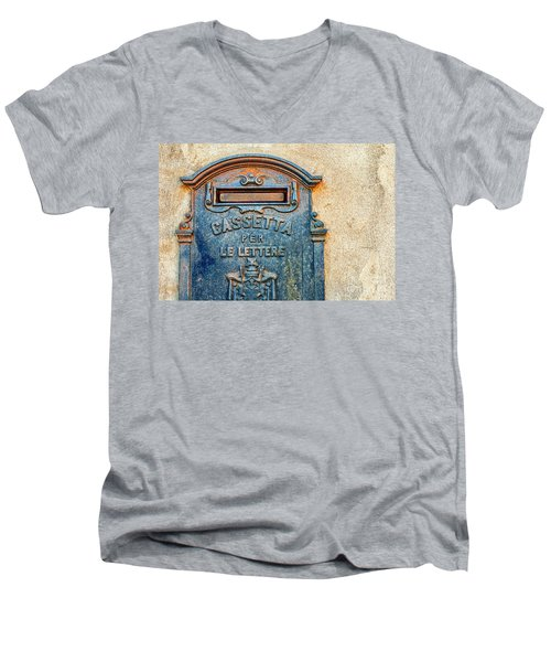 Italian Mailbox Men's V-Neck T-Shirt by Silvia Ganora