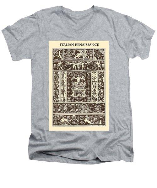 Italian Renaissance Men's V-Neck T-Shirt by Italian School