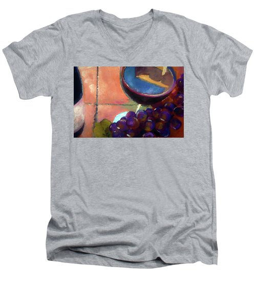 Italian Tile And Fine Wine Men's V-Neck T-Shirt