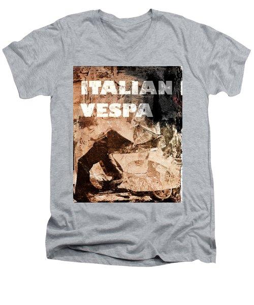 Italian Vespa Men's V-Neck T-Shirt