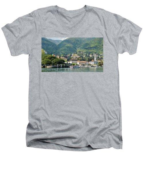 Italian Village On Lake Como Men's V-Neck T-Shirt