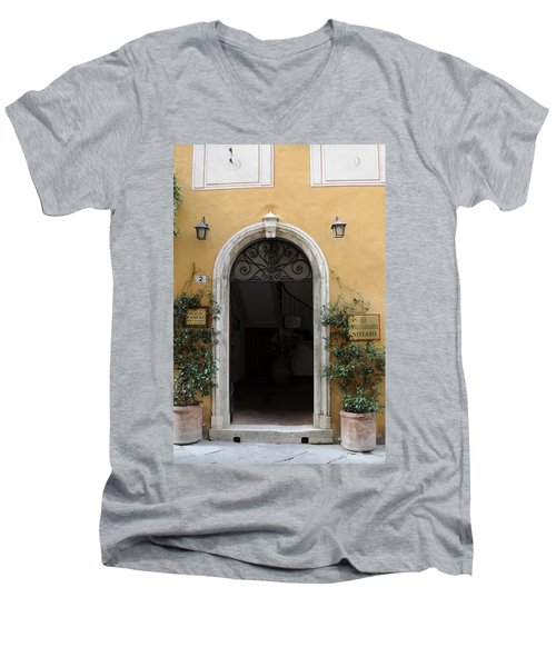 Italy - Door Thirteen Men's V-Neck T-Shirt