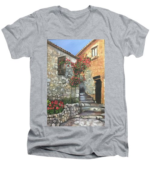 Italy Men's V-Neck T-Shirt
