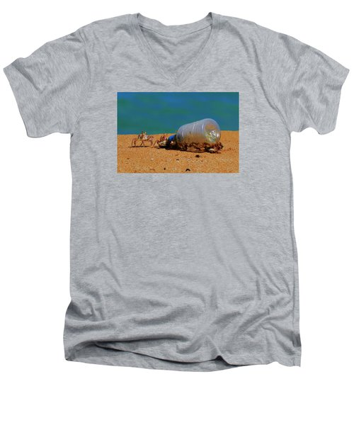 Men's V-Neck T-Shirt featuring the photograph It's 5 O'clock Somewere by James McAdams