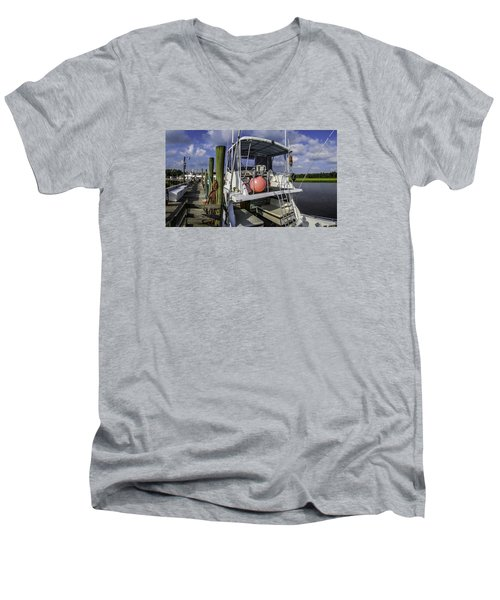 It's A Beautiful Day Men's V-Neck T-Shirt by David Smith