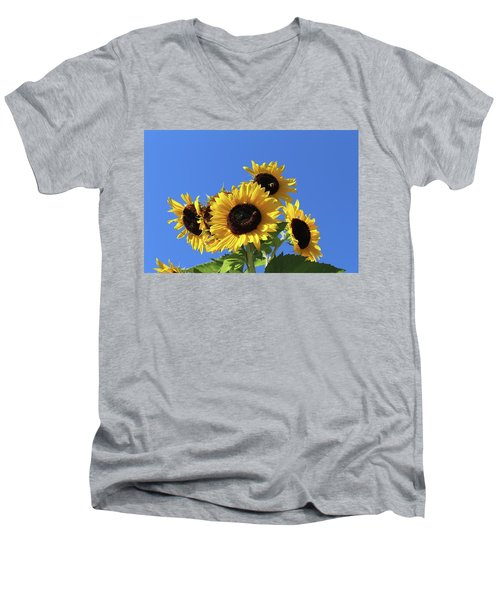 It's A Blue Sky Day Men's V-Neck T-Shirt