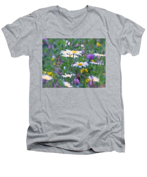 It's A Daisy Kind Of Day Men's V-Neck T-Shirt