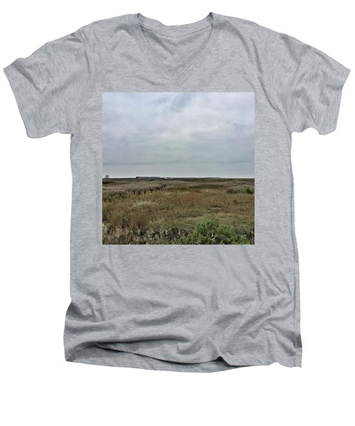 It's A Grey Day In North Norfolk Today Men's V-Neck T-Shirt by John Edwards