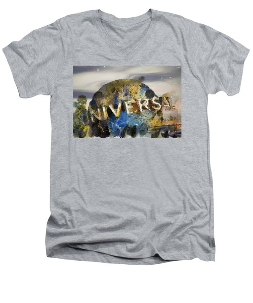 It's A Universal Kind Of Day Men's V-Neck T-Shirt