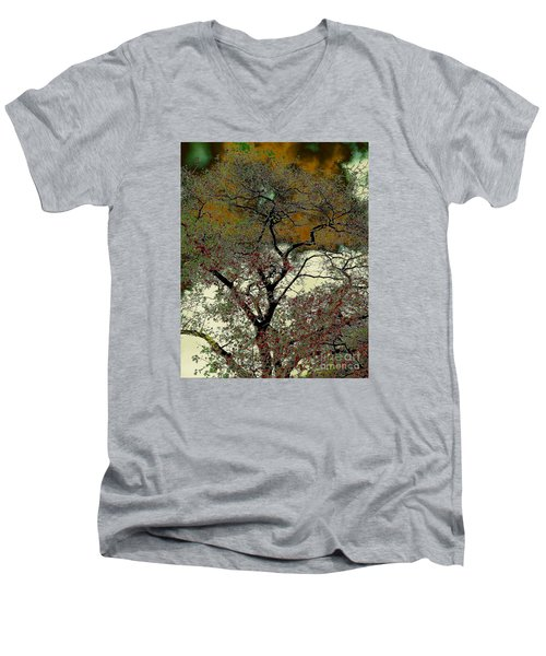 Men's V-Neck T-Shirt featuring the photograph It's Been Said by Jesse Ciazza