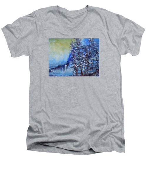 It's Cold Out Men's V-Neck T-Shirt by Dan Whittemore