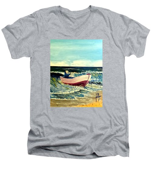It's Going To Pole And Turtle Men's V-Neck T-Shirt