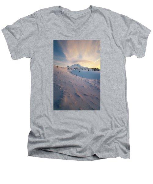 It's Not Spring Yet Men's V-Neck T-Shirt by Ryan Manuel
