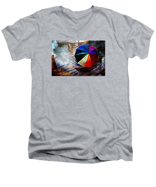 It's Raining Again Men's V-Neck T-Shirt by Randi Grace Nilsberg