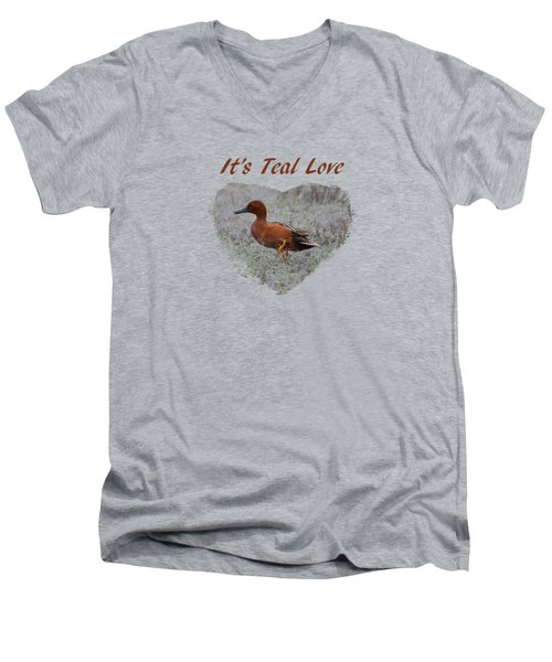 It's Teal Love Men's V-Neck T-Shirt
