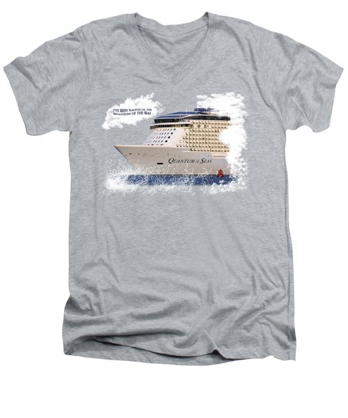 I've Been Nauticle On Quantum Of The Seas On Transparent Background Men's V-Neck T-Shirt