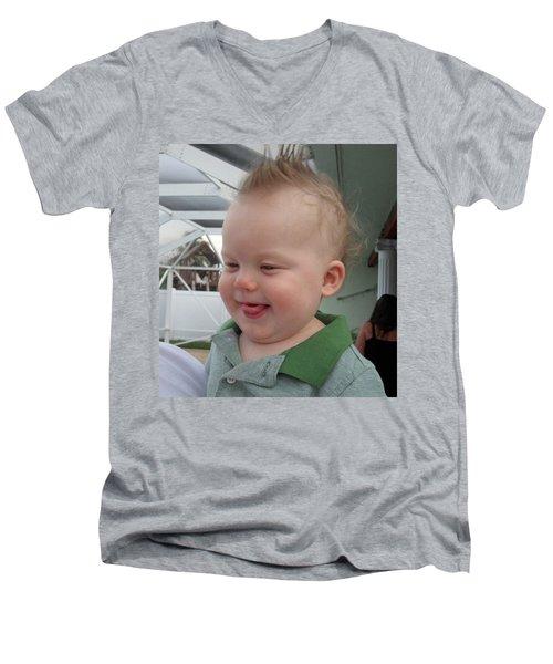 I've Got A Secret Men's V-Neck T-Shirt by Val Oconnor