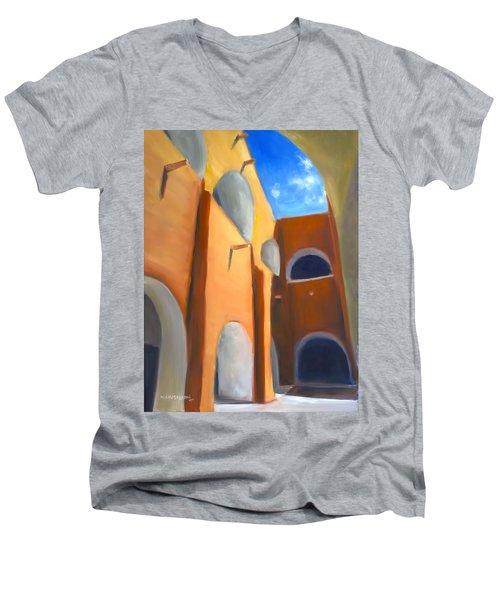 Izamal - Monastery San Antonio De Padua  Men's V-Neck T-Shirt