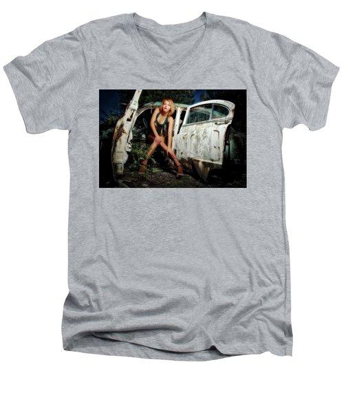 Izzy's Buick Men's V-Neck T-Shirt by Jerry Golab
