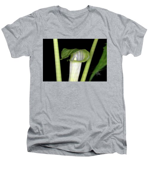 Men's V-Neck T-Shirt featuring the photograph Jack In The Pulpit by Meta Gatschenberger