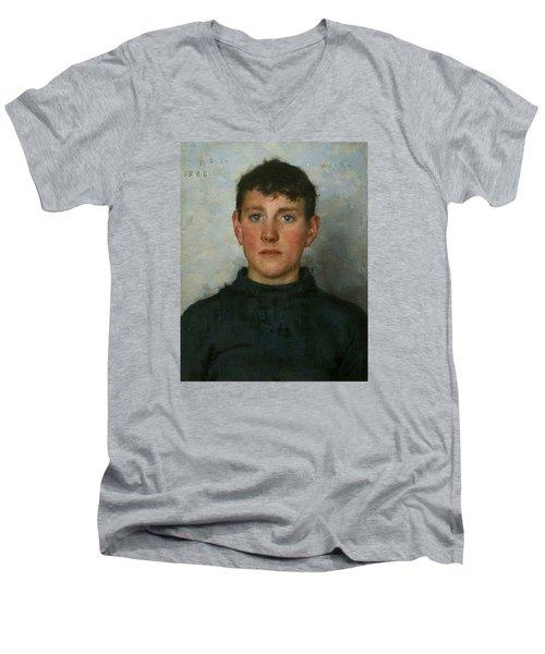 Jack Rolling Men's V-Neck T-Shirt by Henry Scott Tuke