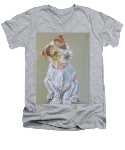 Jack Russell Watching You Men's V-Neck T-Shirt