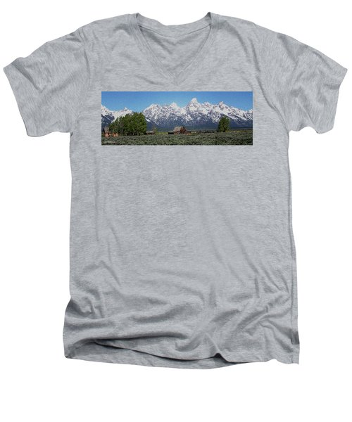 Jackson Hole Men's V-Neck T-Shirt