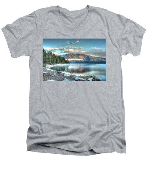 Jackson Lake Men's V-Neck T-Shirt