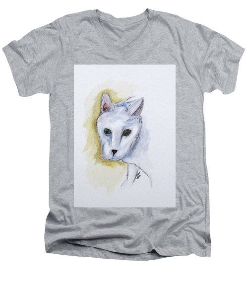 Jade The Cat Men's V-Neck T-Shirt