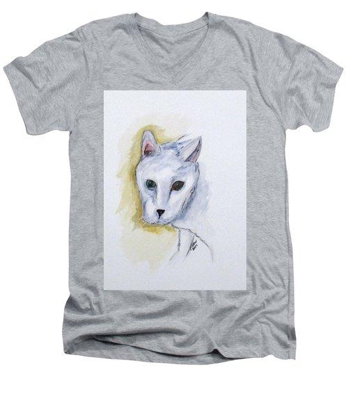 Jade The Cat Men's V-Neck T-Shirt