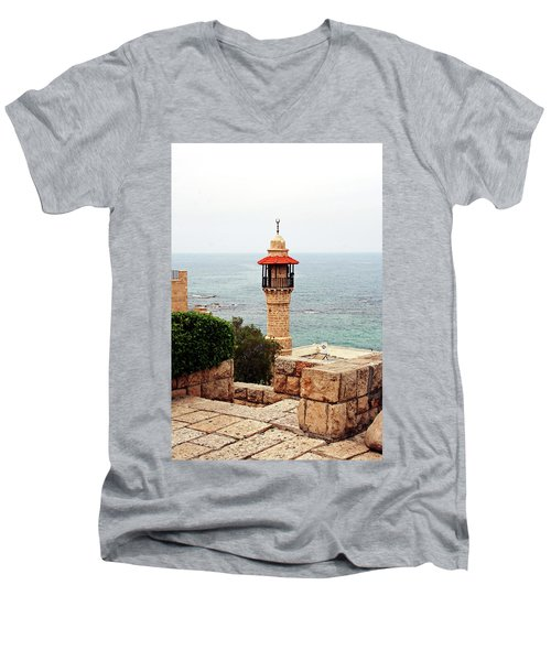 Men's V-Neck T-Shirt featuring the photograph Jaffa Israel by Denise Moore