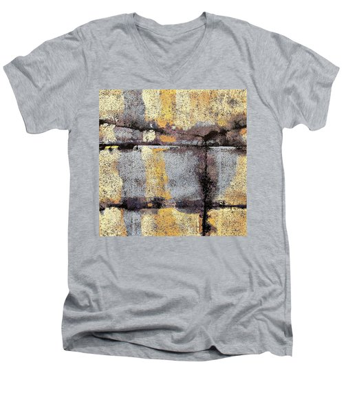 Jagged Lavendar Men's V-Neck T-Shirt by Maria Huntley