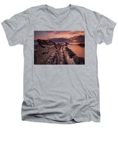 Jagged Rocks Men's V-Neck T-Shirt