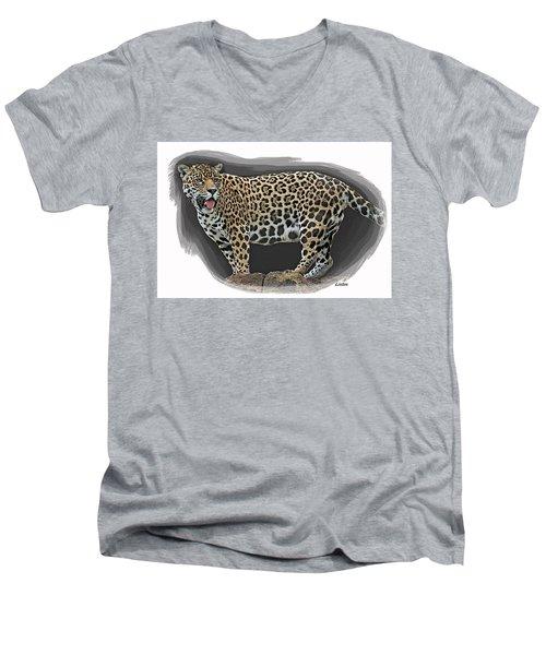 Jaguar 16 Men's V-Neck T-Shirt