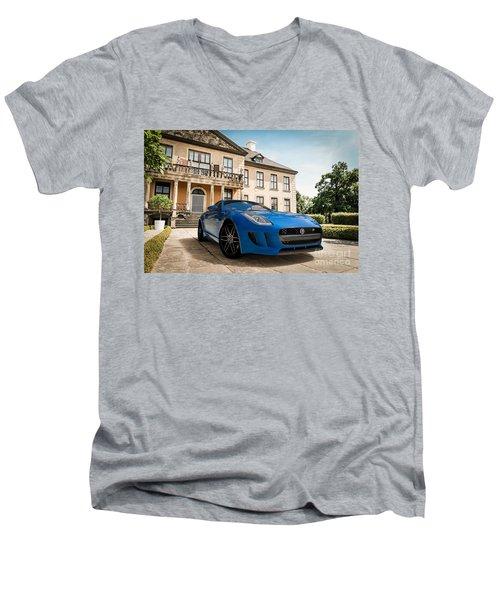 Jaguar F-type - Blue - Villa Men's V-Neck T-Shirt