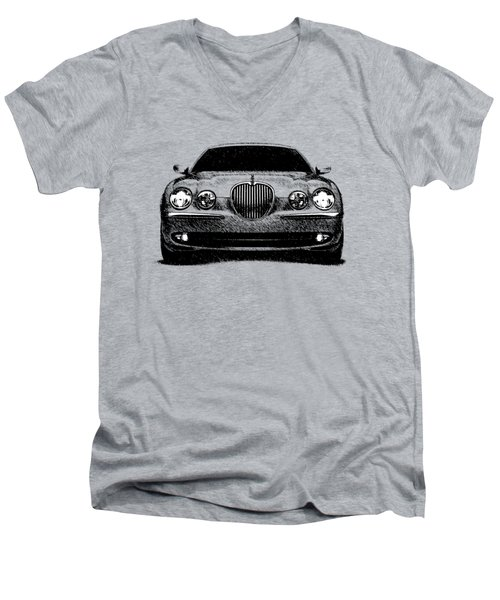 Jaguar S Type Men's V-Neck T-Shirt by Mark Rogan