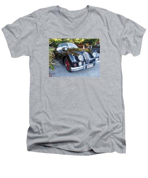 Jaguar140_ots Men's V-Neck T-Shirt by Kathryn Barry