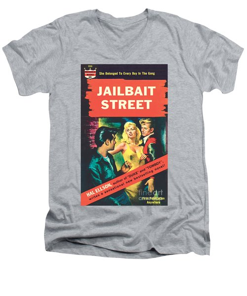 Jailbait Street Men's V-Neck T-Shirt by Ray Johnson