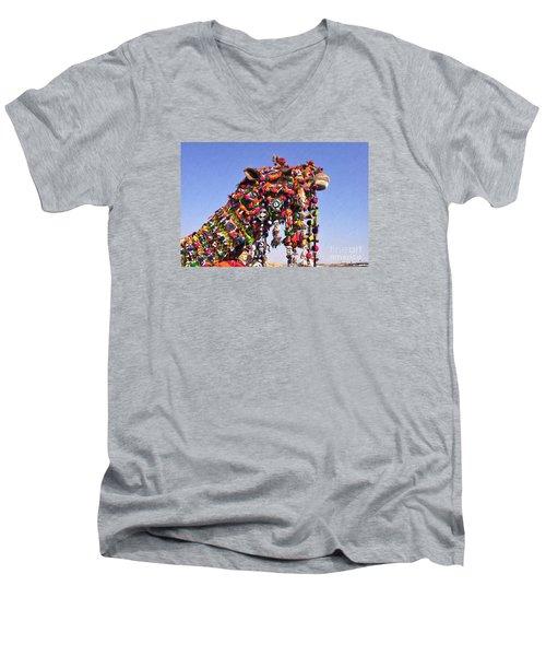Jaisalmer Desert Festival-5 Men's V-Neck T-Shirt