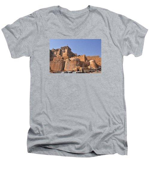 Jaisalmer Desert Festival-9 Men's V-Neck T-Shirt