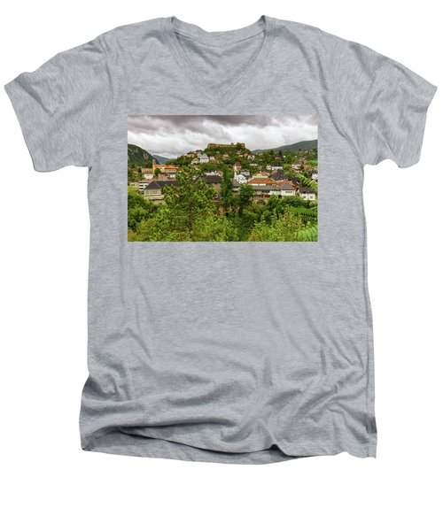 Jajce, Bosnia And Herzegovina Men's V-Neck T-Shirt by Elenarts - Elena Duvernay photo