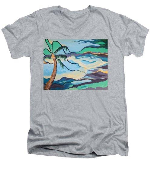 Jamaican Sea Breeze Men's V-Neck T-Shirt by Jan Steinle