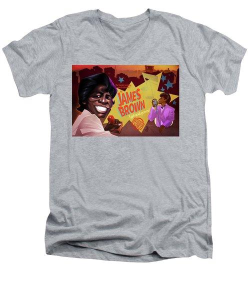 James Brown Men's V-Neck T-Shirt