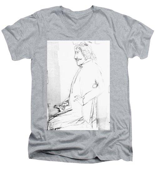 James Whistler's Portrait Men's V-Neck T-Shirt