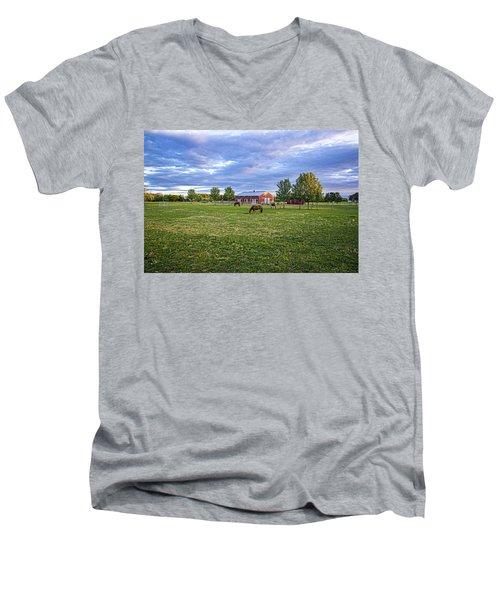 Jamesport Saddle Club Men's V-Neck T-Shirt