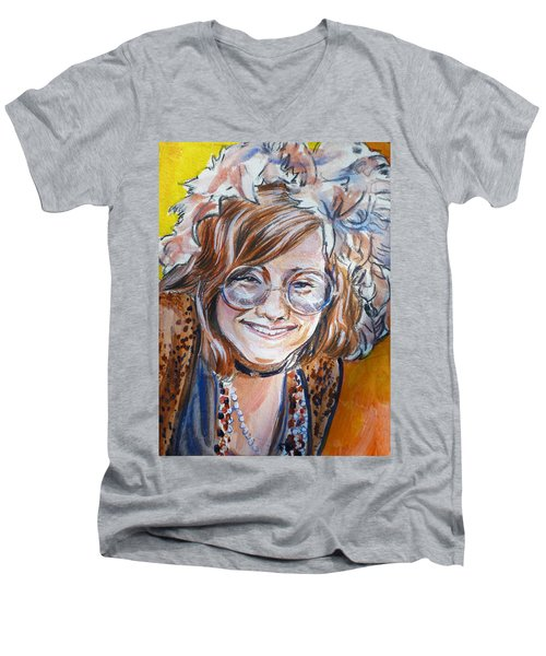Janis Joplin Men's V-Neck T-Shirt