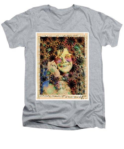 Janis Joplin Men's V-Neck T-Shirt