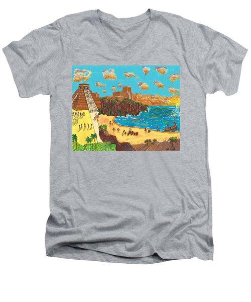 January Pyramid By The Bay Men's V-Neck T-Shirt