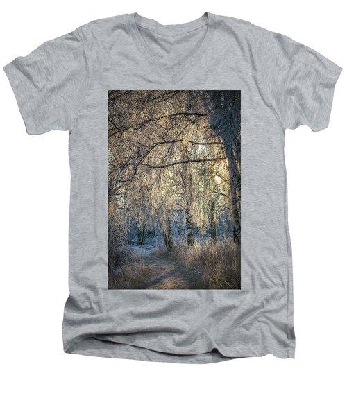 January,1-st, 14.35 #h4 Men's V-Neck T-Shirt
