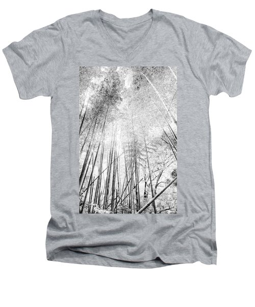 Men's V-Neck T-Shirt featuring the photograph Japan Landscapes by Hayato Matsumoto